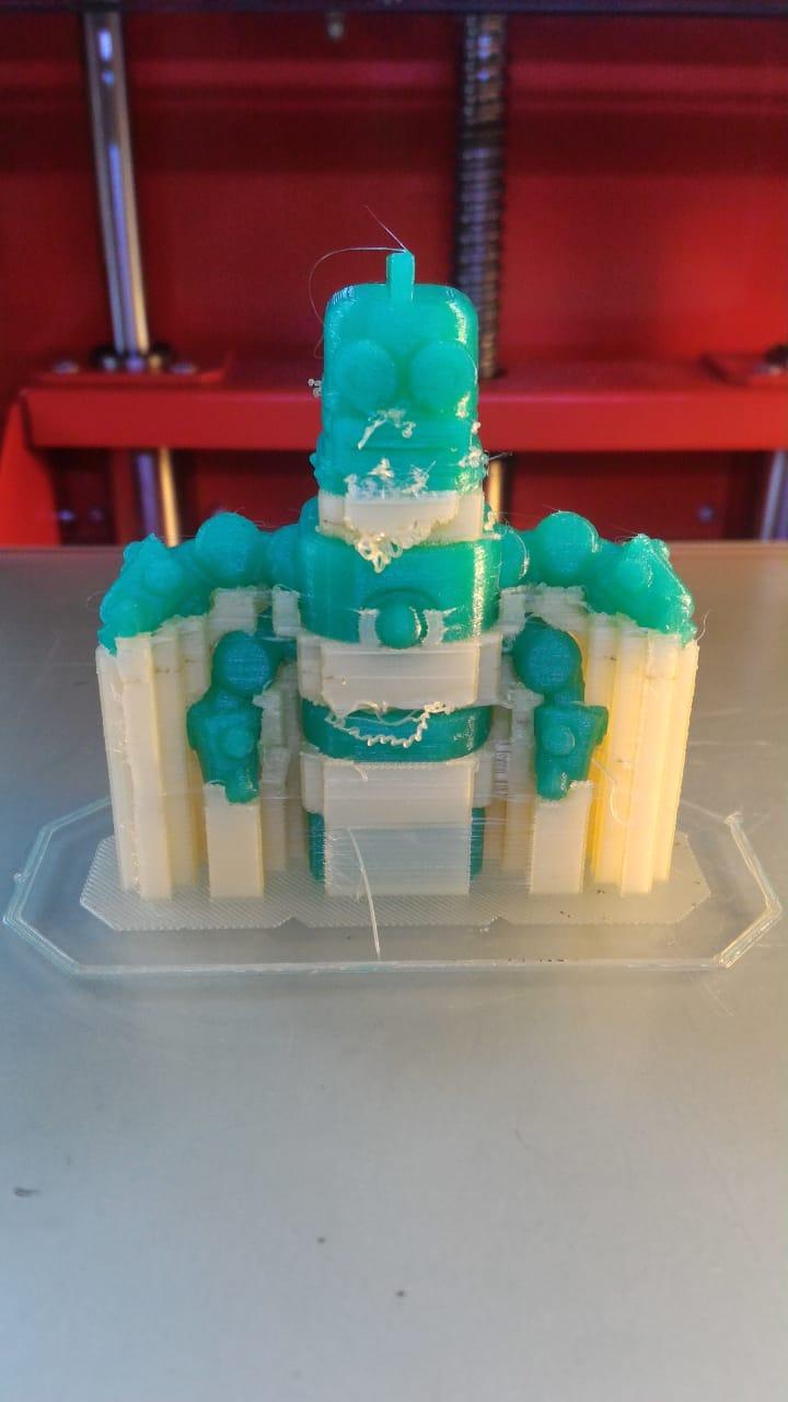 Фото: Печать из воска WAX3D с растворимой поддержкой
